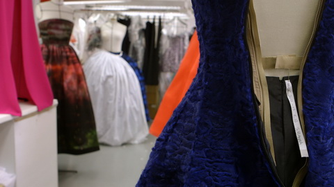 Dresses in the atelier as they're about to leave for the show. Credit: CIM Productions