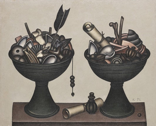 Dmitry Krasnopevtsev. Two bowls with objects. 1972. From the collection of the ART4 Museum