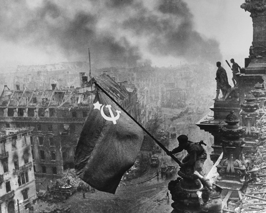 Banner of Victory over the Reichstag. Berlin. 1945