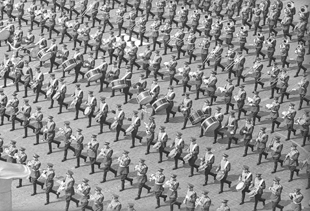 The parade on Red Square. Moscow, May 1, 1977. Silver-gelatin imprint. Collection of MAMM