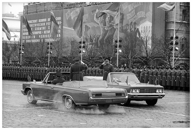 Military parade dedicated to the 60th anniversary of the October Revolution. Moscow, 1977