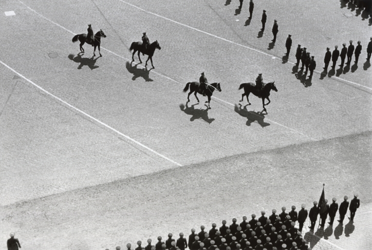 Emmanuil  Evzerikhin. Military parade on Red Square. Moscow, 1952. Gelatin silver print. Collection of the Multimedia Art Museum, Moscow.