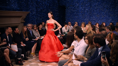 Raf Simons' first haute couture collection for Dior. Credit: CIM Productions