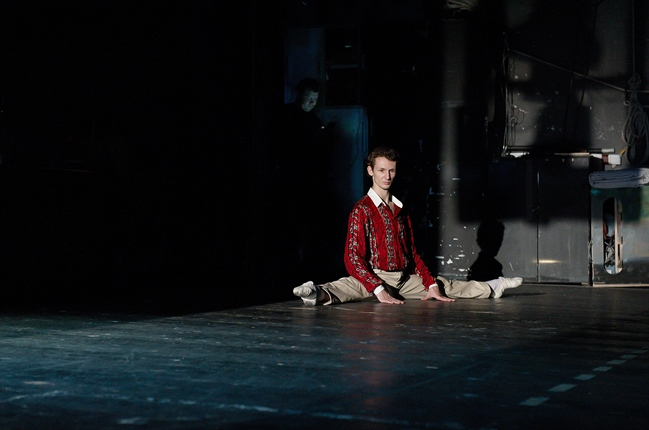 Semyon Chudin (principal dancer) waits for his stage entrance. 'The Bright Stream', 2016