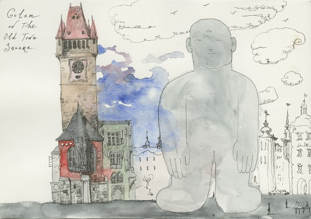 Golem on the Old Town Square,