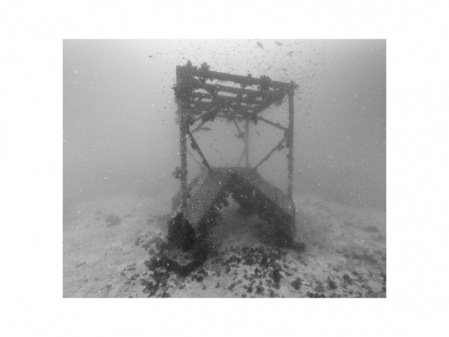 Nicolas Floc'h. Artificial reef, –19 m, From the 'Productive Structures' series, Hatsushima, Japan, 2013.