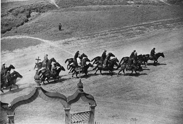 "Mikhail Prehner. Red cavalry. For the book ""The First Horse"". 1935.