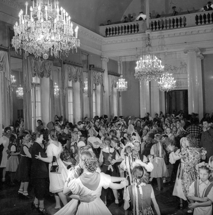 Dancing in the House of Culture. Leningrad. 1945